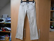 Juicy Couture Cream Cotton Bootcut Jean Style Trousers W/Heart - 27/UK8 Short