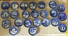 Lot Royal Copenhagen Set Christmas Collector Plates - 1962,1963,1965-1985