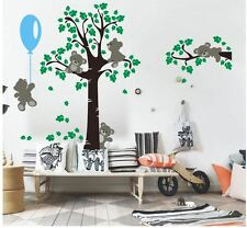Wall stickers custom colour Xlarge Teddy bear tree balloon decal home vinyl kids