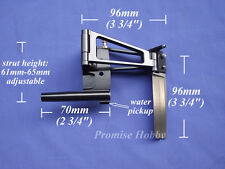 """Clearance- Rudder with strut for 3/16"""" flex cable for medium size rc marine boat"""