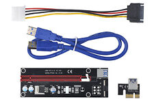 PCIe risers card | PCI e X1 TO X16 Adapter with 60cm USB3.0 or molex Power cable