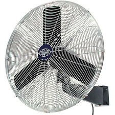 Rotating Wall Mount Fan Factory Garage Industrial Shop 24 Inch Diameter Blades