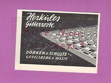 GEVELSBERG, Werbung 1951, Dörken & Schulte KG Herkules Gitterroste