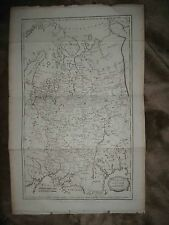 LARGE ANTIQUE 1806 MUSCOVY RUSSIA IN EUROPE COPPERPLATE MAP MOSCOW CIRCASSIA NR