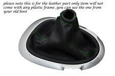 GREEN STITCHING FITS NISSAN JUKE 2010-2013+ LEATHER GEAR GAITER ONLY