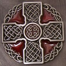 Pewter Belt Buckle Religious Celtic Cross NEW