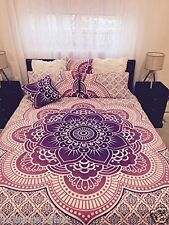 Indian Duvet Doona Cover Ombre Mandala Hippie Bohemian Queen Quilt Cover _a28
