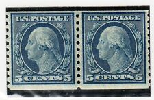 VU102 USA #496 COIL PAIR of STAMPS - MINT, OG, NEVER HINGED, $18.00