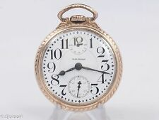 Antique Waltham Vanguard M#1908 16s 23j Pocketwatch w/ Up/Down Ind. Waltham Case