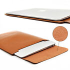 """Laptop Notebook Sleeve PU Lether Carry Bag Case For 11/12/13/15"""" MacBook Air/Pro"""