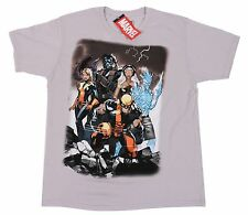 Marvel Comics Mad Engine Light Gray Retro X-Men Tee 100% Cotton Size L T-Shirt