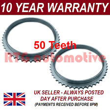 2X FOR MITSUBISHI SHOGUN PAJERO 50 TOOTH 84.05MM ABS RELUCTOR RING CV JOINT 2301