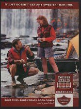 1999 SWISHER SWEETS Cigars Cigarillos - Fishing - Boat - Tent Camping VINTAGE AD
