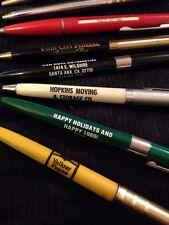 Vintage Advertising Pen Lot Grab bag.  Garage sale Find Ball Point