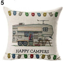 Caravan Fifth Wheeler Linen Square Pillow Cushion Cover! Father's Day.