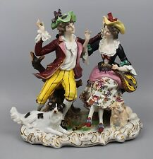 Rudolstadt Ernst Bohne Sohne Figurine Couple with Sheep and Dog WorldWide