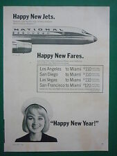 1/1965 PUB NATIONAL AIRLINES AIRLINER MIAMI FLORIDA / METRO GOLDWYN MAYER AD