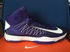 DS Nike Hyperdunk 2012 Men's sz 18 Basketball Shoes 524882-500 White Purple kobe