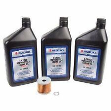 Oil Change Kit:Suzuki King Quad 700/750AXI 05-14, ATV,3 qts10w-40 & Filter,
