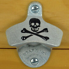 SKULL AND BONES Pirate Starr X Wall Mount Stationary Bottle Opener - NEW!!!
