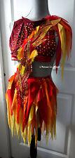 Girl On FIre Fairy Monokini Dress Costume Rave Bra Wear Cosplay Halloween