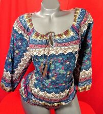 1X✿Banded✿Hippie~BOHO✿Retro~Work✿Top✿Goth✿Plus~Size✿Rockabilly✿Pinup+Torrid~Bow