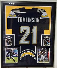 LaDainian Tomlinson Autographed Custom Framed Chargers White Jersey JSA COA