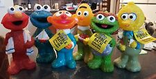 "1992 Sesame Street figural bubble bath 9"" ~ full, Set of 6 with tags ! Elmo Bert"