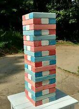 FREE SHIP Patriotic Life Size Jenga Game Fun for all Yard/Outdoor Parties & More