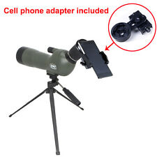 New GOMU 20-60x60mm Zoom Spotting Scope Hunting with Tripod &Cell phone adapter