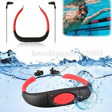 4GB + IPX8 Waterproof FM Radio MP3 Music Player Swimming Sport Headphone Headset