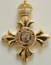 OBE GOLD PLATED HAND MADE IN UK LAPEL PIN BADGE