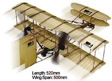 WF-1 Wright Brothers Rubber Band Powered 2 Propeller Plane Kit - Lyonaeec 88010