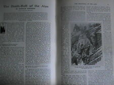 Alps Mountain Climbing Deaths Mountaineering Antique Article 1906 Hadow Whymper