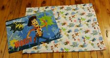 DISNEY Toy Story Woody Buzz double sided pillowcase toddler/crib bed flat sheet
