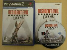 Sony Playstation 2 Game * RESIDENT EVIL OUTBREAK FILE 2 * Complete PS2 10777