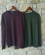 Lands End LOT OF 2 Mens 100% Cashmere Crew Neck Sweater Size XLarge