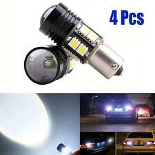 4x No Error Canbus CREE White LED Backup Reverse Light Bulb #S BA15S 1156 P21W