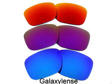 Galaxy Replacement Lenses For Oakley Holbrook Blue&Purple&Fire Red 3Pairs