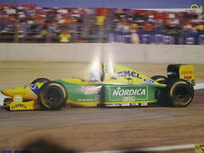 POSTER 4 PAGES AUTO : BENETTON FORMULE 1 : RICCARDO PATRESE