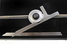 """Somet Protractor includes 12"""" & 6"""" Scale In Hard Case Free Shipping"""