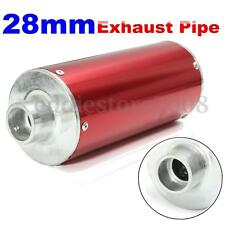 28mm Motorcycle Scooter Pitbike Dirt Pit Bike Exhaust Pipe 50 110 125 140cc Red