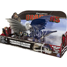 DREAMWORKS DRAGONS - TOOTHLESS & HICCUP VS ARMORED DRAGON 3-PACK (2015) BNIB