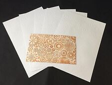 CRAFTSTYLE 5 X A4 SH WHITE EMBOSSED CARD STOCK -  COGS & GEARS