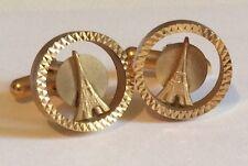 Vintage EIFFEL TOWER Paris CUFFLINKS Women Men Shirts Gift Fashion Accessories