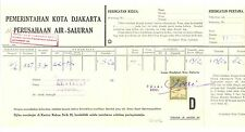 INDONESIA  1950/1954  2 x RECEIPT WITH FISCAL STAMPS  F/VF