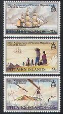 Isole Pitcairn 1981 Barche a Vela Navi// Nautica/trasporto Set 3v (n40260)