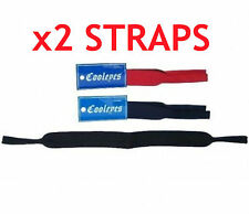 2 x Neoprene head straps for sunglasses glasses - great for sport