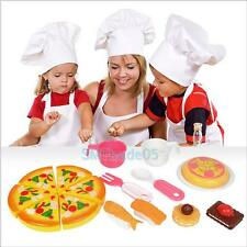 16PCS Kids Baby Pizza Party Fast Food Cooking Cutting Pretend Play Set Toy Gift