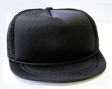 HARD TO FIND - NEW - Baby Infant Trucker Hat - BLACK - Blank Newborn Cap